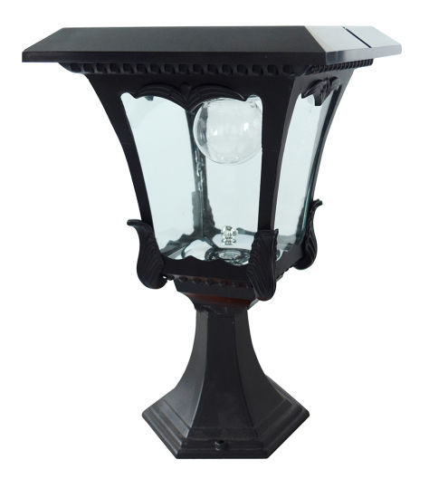 Outdoor LED Solar Garden Yard Pillar Light Post Landscape Lamp Lantern IP55 USA