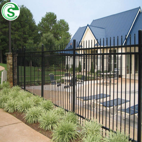 Anti-Rust Powder Coated Security Swimming Pool Iron Fence
