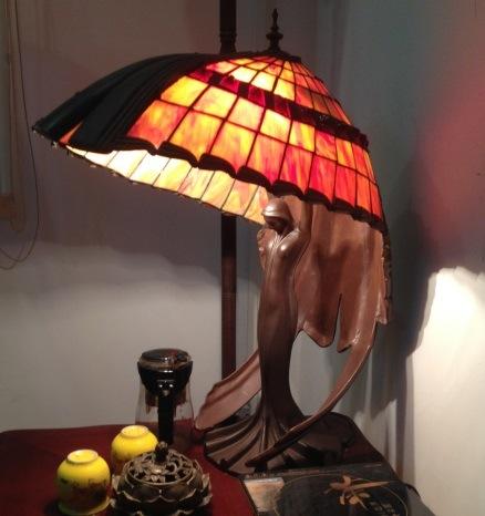 Art Tiffany Table Lamp 754