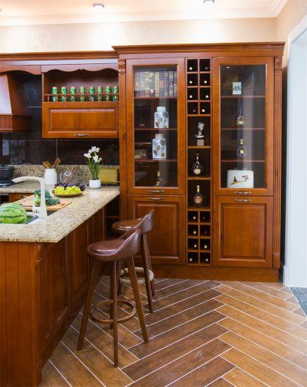 Vintage Wood Imitation Aluminum Kitchen, Vintage Oak Kitchen Doors