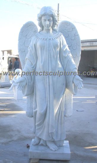 Marble Granite Angel Statue for Cemetery Tombstone Monument Headstone (SY-X1208)