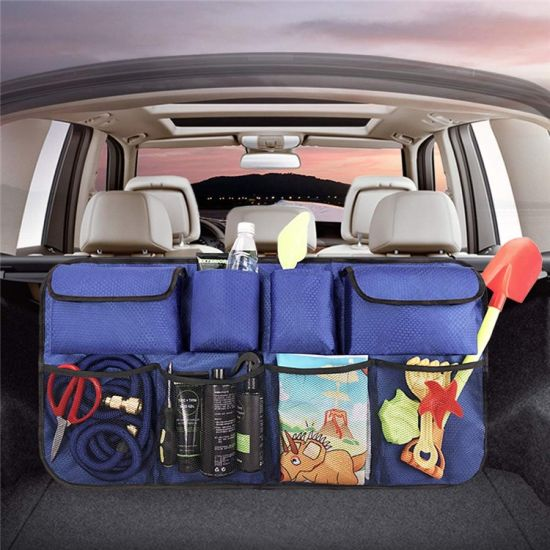 Heavy Duty Backseat Car Trunk Storage Organizer Bag with Adjust Straps and Mesh
