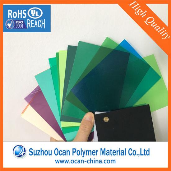 China 0.3mm Green Matt Transparent Colored Plastic PVC Sheet for ...