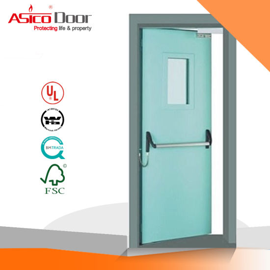 Steel Fire Door Assembled with Vision Panel (UL fire door)