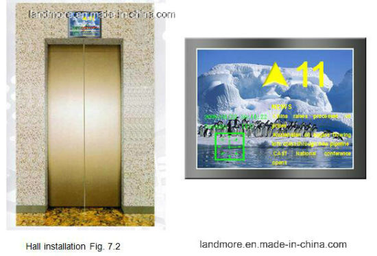 15 Inch Multimedia Passenger Elevator LCD Display/Screen for Otis pictures & photos