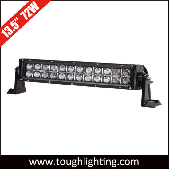 "DC 12V 13"" 72W Double Row Offroad Straight CREE LED Light Bars pictures & photos"