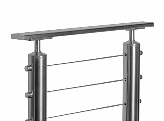 China Outdoor Stainless Steel Cable Railing /Wire Rope Deck Railing ...