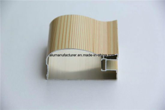 Wooden Colour Aluminium Alloy Extrusion Profile for Door and Window pictures & photos