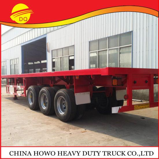 Heavy Capacity 4 Axles Flatbed Container Semi Trailer Cargo Trailer