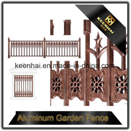 Garden Decoration Customized Cast Aluminum Iron Fence for Security