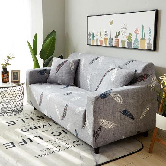 Wholesale Elastic Slipcover Stretch Sofa Covers for One Seat Big Elasticity  Corner Sofa Cover
