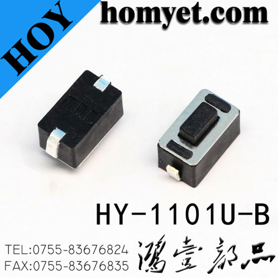 China Manufacturer SMD Tactile Push Switch Tact Switch with 2pin (HY-1101ES-H5W) pictures & photos