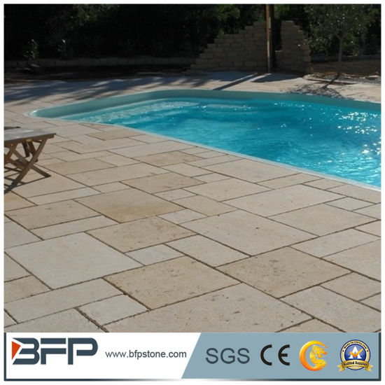 Chinese Cheap Limestone Tiles for Swimming Pool Coping Stones