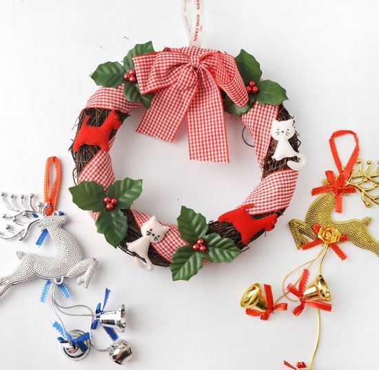 oem hot sale christmas wreath and garland for hang decoration - Christmas Garland Decorations Sale