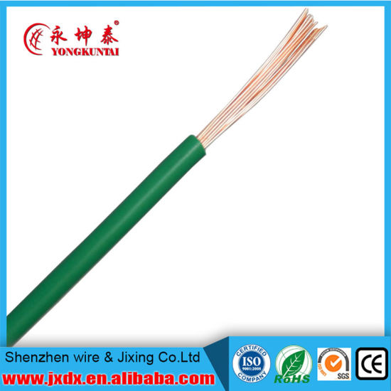 China PVC Insulated 12 14 25 Gauge Stranded Copper Electrical Wire ...