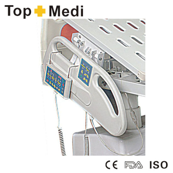 Topmedi Steel Frame 7 Functions ICU Power Electric Hospital Bed pictures & photos