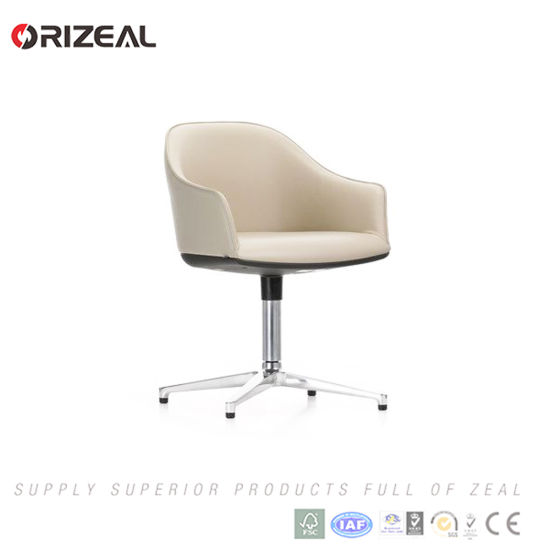 Orizeal Fabric Upholstered Swivel Armchair, Simple Reception Bar Chair (OZ-OSF013) pictures & photos