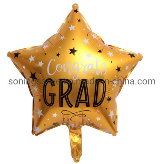 Dto0286 New Design for Graduation Season Wholesale 18 Inch Shape Inflatable Colorful Graduation Helium Balloon