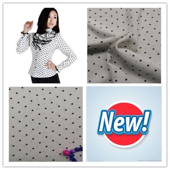 100% Polyester Elastic, Jacquard Fabric, Polka DOT Print