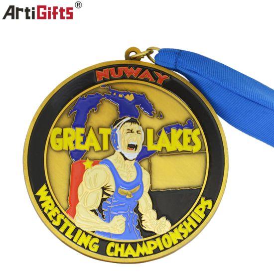 Customer Design Logo Individual Wrestling Medal