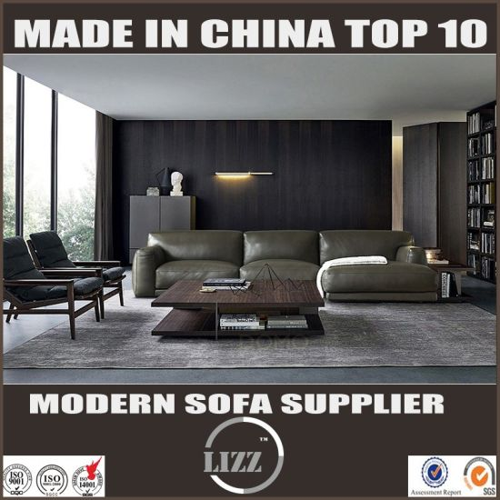 Top Grain Leather Solid Wood Construction Leather Sofa pictures & photos