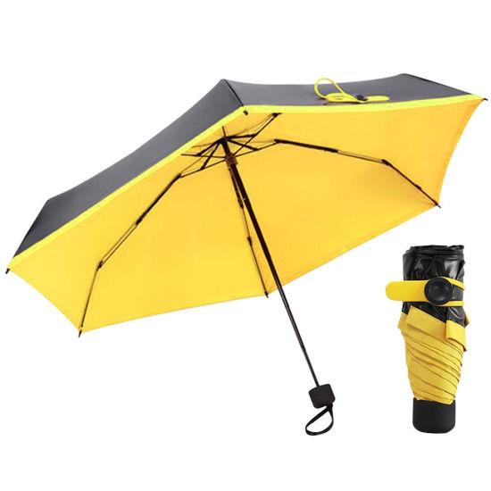 87136a0c549a China UV Protection Black Vinyl Pocket Umbrella Small Sun Rain ...