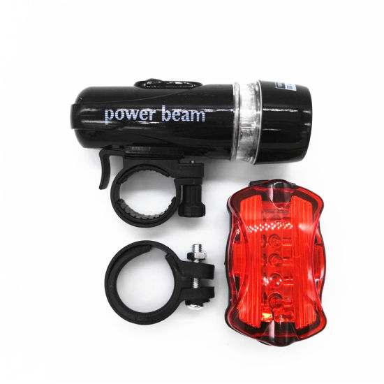 Bike Bicycle 5 LED Power Beam Front Head Light Headlight Torch Safety Lamp