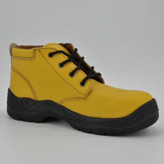China Yellow Leather Women Safety Work Shoes Ufb057 - China Safety ... f459960d53b3