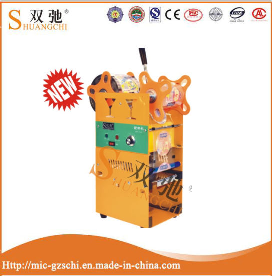 Plastic Cup Filling and Sealing Machine for Juice/Milk Tea pictures & photos