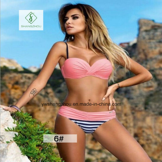 2017 Hot Sale European Sexy Swimwear Plain Fashion Ladies Bikini pictures & photos