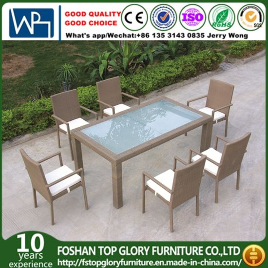 Admirable China Factory Price Durable Rattan Outdoor Dining Set Gmtry Best Dining Table And Chair Ideas Images Gmtryco