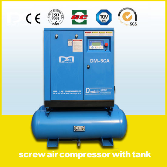 15kw Industrial Stationary Electric Screw Air Compressor with Air Dryer pictures & photos