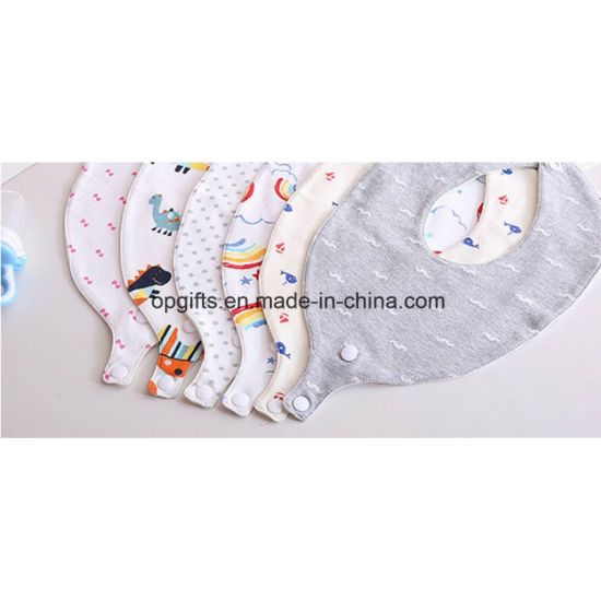 Plain Triangle Baby Bandana Drool Bibs with Pacifier Clip pictures & photos