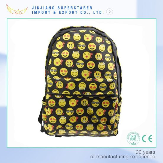 Fashion Custom Emoji Backpack School Backpacks pictures & photos