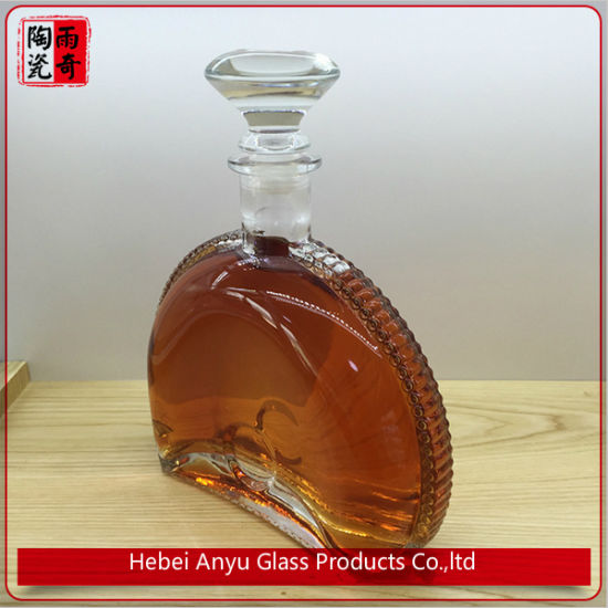 Top Grade Brandy Glass Wine Liquor Bottle for 700ml 750ml pictures & photos