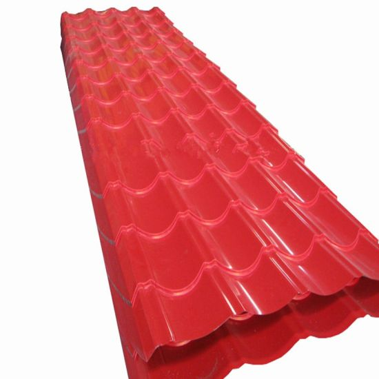 PPGI Prepainted Red/Blue Color Corrugated Ibr Galvalume Steel Roofing Sheet