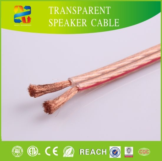 14AWG High End Transparant Speaker Cable with RoHS ETL