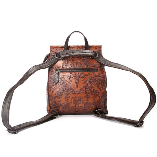 Newest Design Good Quality Retro Style Genuine Leather Handbag Leather Backpack for Women pictures & photos