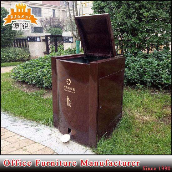 Outdoor Metal Garbage Bin Storage Box Steel Wastes Recycling Bins