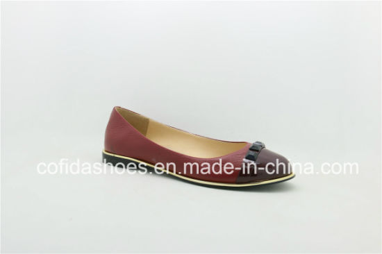 Attractive Design Leather Ladies Shoes with Fashion Studs pictures & photos