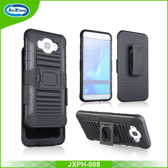 PC TPU Combo Holster Protective Mobile Phone Case for Samsung Galaxy J7 2016 J710 pictures &