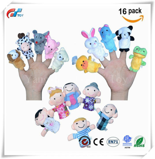 Finger Puppets for Children, Velvet Cute Animal and Family Style, Shows, Playtime, Schools Dolls Props Toys
