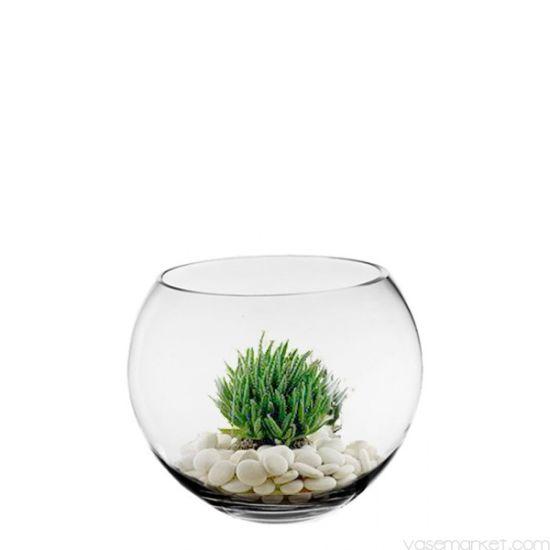 China Cheap Clear Glass Bowl Vases V 111 China Glass Decoration