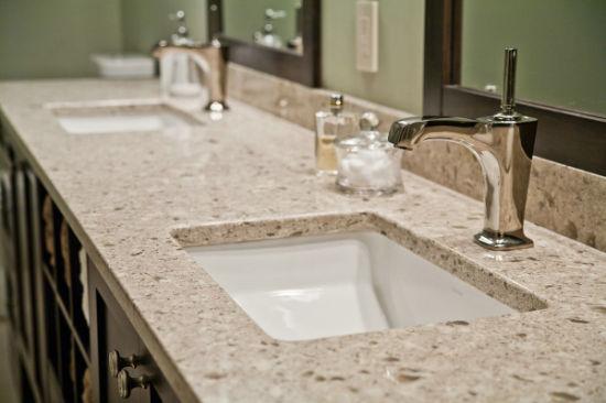 Quartz Stone Slabs Furniture Bath Vanity For Prefab Homes