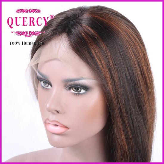 Yaki Straight Human Hair Front Lace Wig pictures & photos