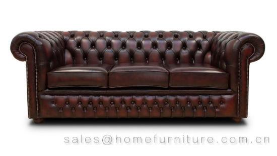 Antique Chesterfield Sofa With Original Deisgn