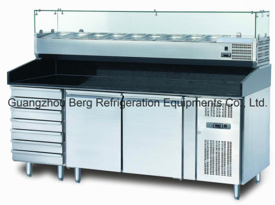 China Three Door Commercial Pizza Prep Table Refrigerator With - Commercial prep table refrigerator