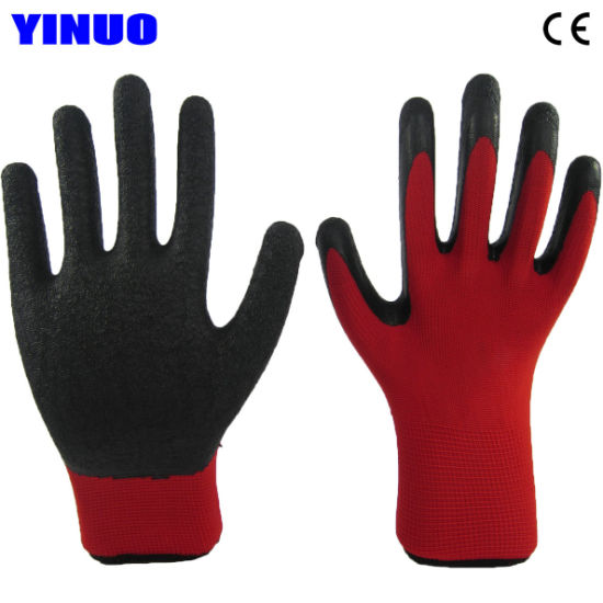 Polyester Liner Latex Palm Coated Industrial Work Glove