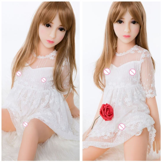 100cm Real Flat Chest Silicone Sex Dolls for Men Small Breast Lovely Girl pictures & photos