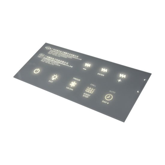 Multi Buttons Membrane Keypad with Transparent LED Window